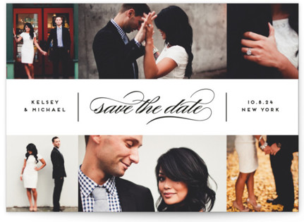 photo of Centered Script Save The Date Cards