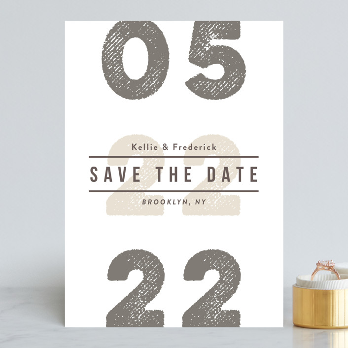 """""""Cognac"""" - Save The Date Cards in Vanilla by chocomocacino."""