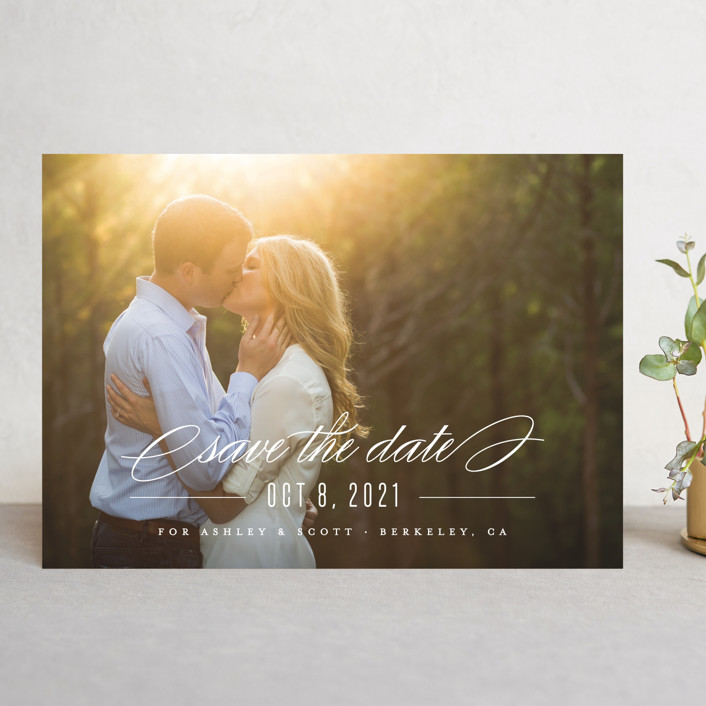 """""""Dashing"""" - Save The Date Cards in Lily by Carolyn MacLaren."""
