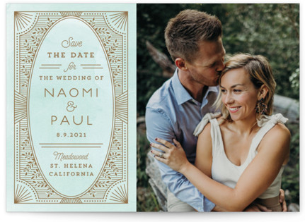 Elegant Lines Save the Date Cards