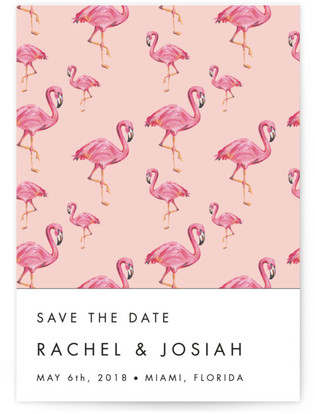 Flamingo Wedding Save the Date Cards