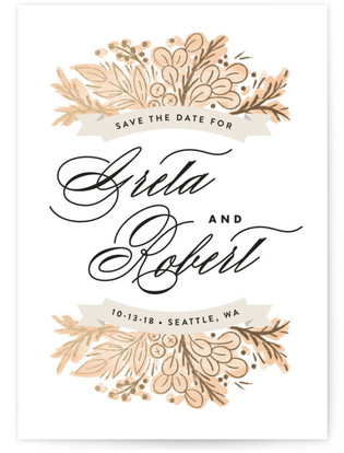 photo of Harvest Banners Save The Date Cards