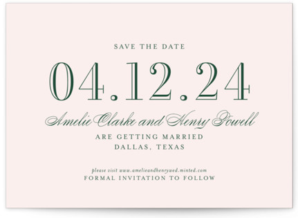 Hepburn Save The Date Cards