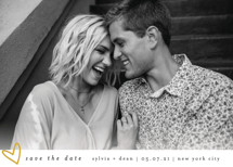 Oh My Heart Save the Date Cards By Bethan