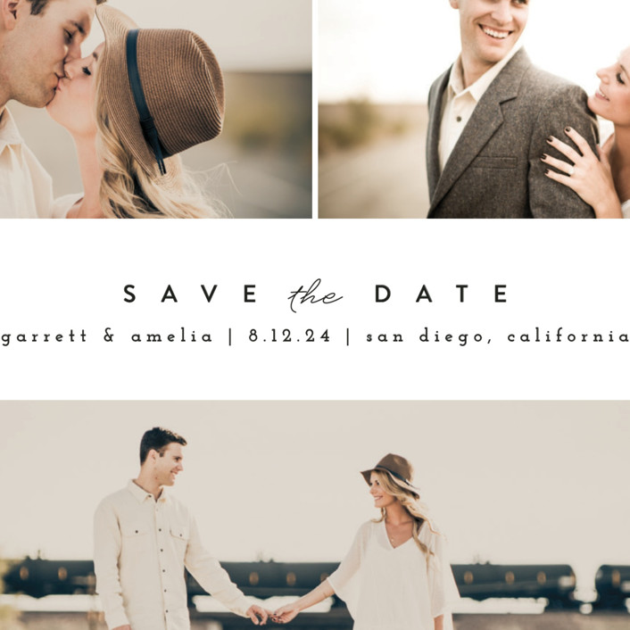 Simple Date Save The Date Cards By Peony Papeterie