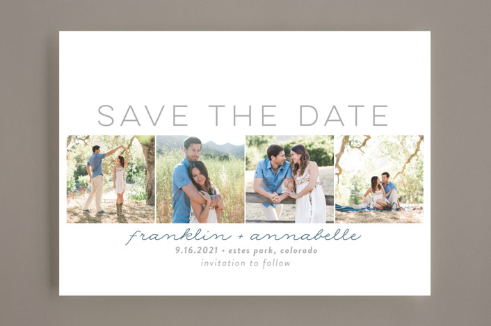 """""""Simple Frames"""" - Modern Save The Date Cards in Dove by Sara Showalter."""