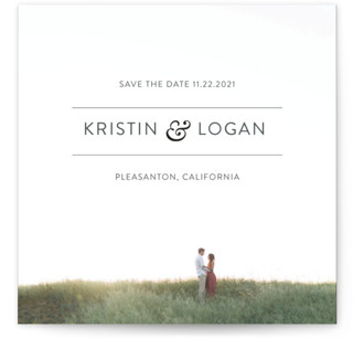 Simply Minimal Save the Date Cards