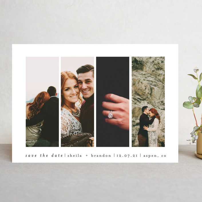 """Special Snapshots"" - Save The Date Cards in Charcoal by Bethan."