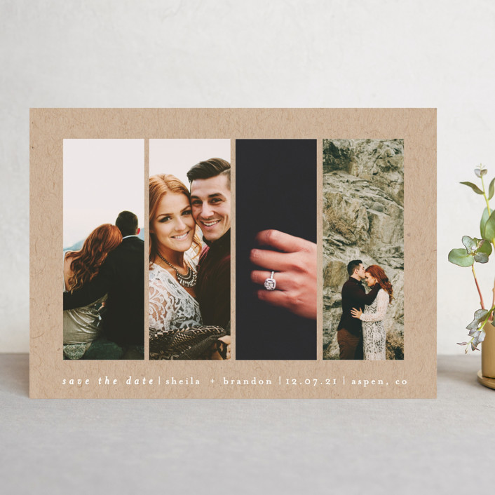 """""""Special Snapshots"""" - Save The Date Cards in Charcoal by Bethan."""