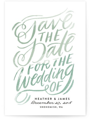 Swooping Wedding Script Save the Date Cards