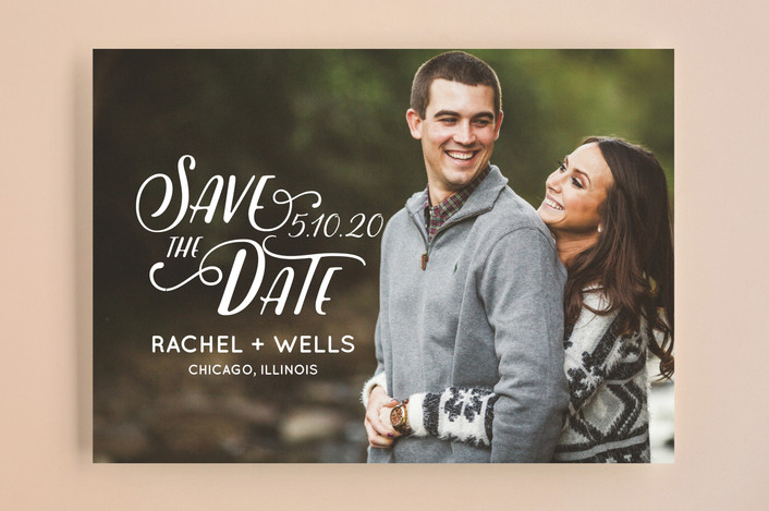 """""""Wyoming"""" - Bohemian Save The Date Cards in Pearl by Erika Firm."""