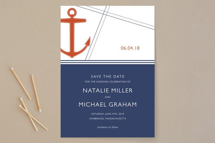 """Regatta"" - Destination Save The Date Cards in Marmalade by Oscar & Emma."