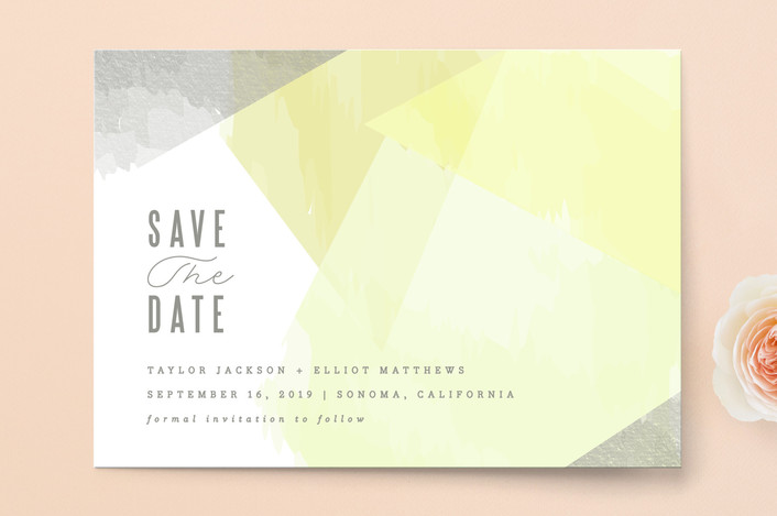 """""""delicate stonework"""" - Save The Date Cards in Peach by Karidy Walker."""