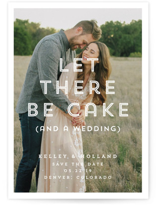 photo of Cake (And A Wedding) Save The Date Cards