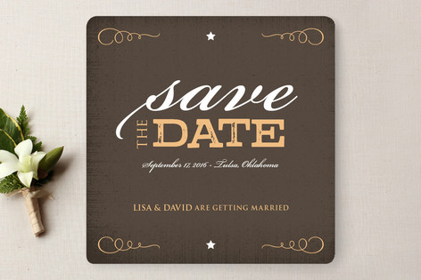 Rustic Western Save The Date Cards