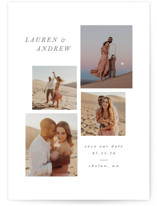 This is a grey save the date by Angela Garrick called Beautiful Love with standard printing on pearlescent in standard.