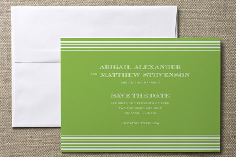 Spring Stripes Save The Date Cards