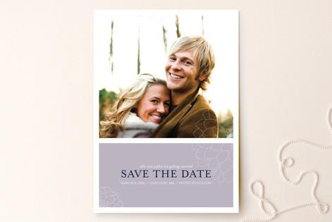 Subtle Dahlia Save The Date Cards