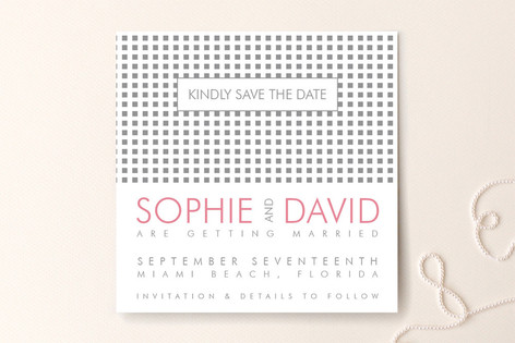Swanky Hotel Save The Date Cards