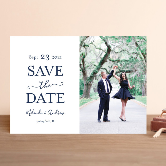 """Elegant Save"" - Save The Date Cards in Moss by raven erebus."