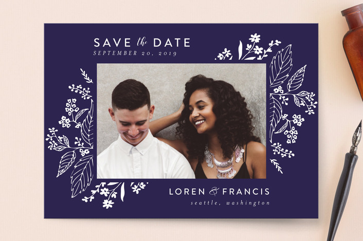 """Tapestry"" - Save The Date Cards in Ebony by Chris Griffith."