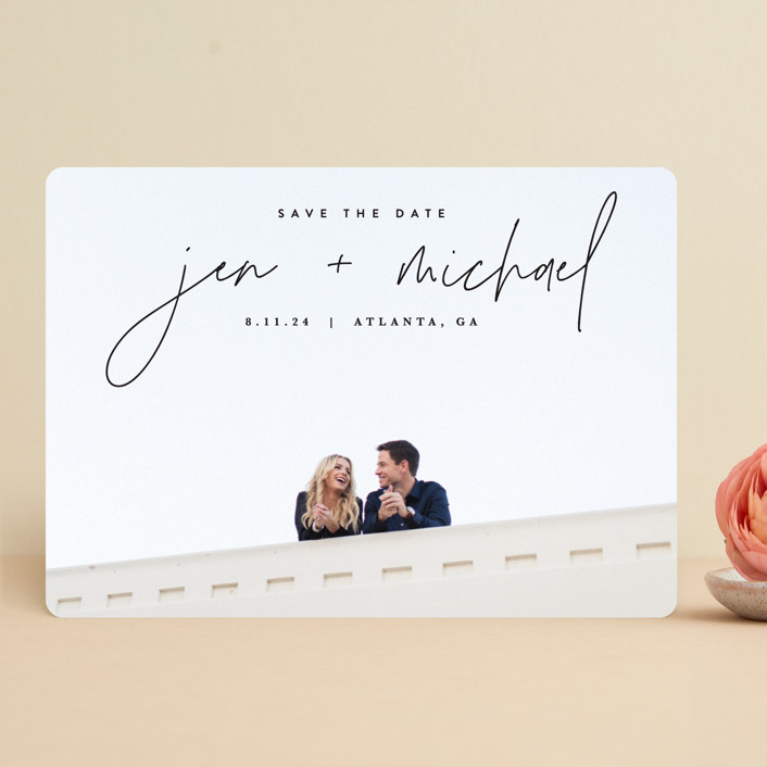 """""""Penned"""" - Save The Date Cards in Noir by JoAnn Jinks."""
