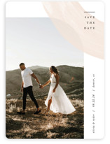 This is a pink save the date by Pixel and Hank called Glimpse with standard printing on smooth signature in standard.