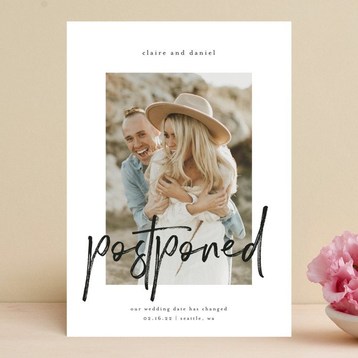 """""""Together Always"""" - Save The Date Cards in Linen by Kelly Schmidt."""