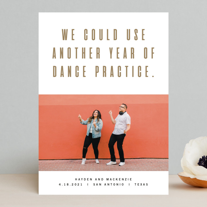"""""""Marquee"""" - Funny Save The Date Cards in Golden by Jody Wody."""