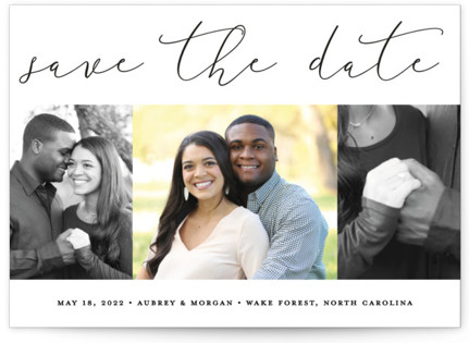 photo of Etched In Love Save The Date Cards