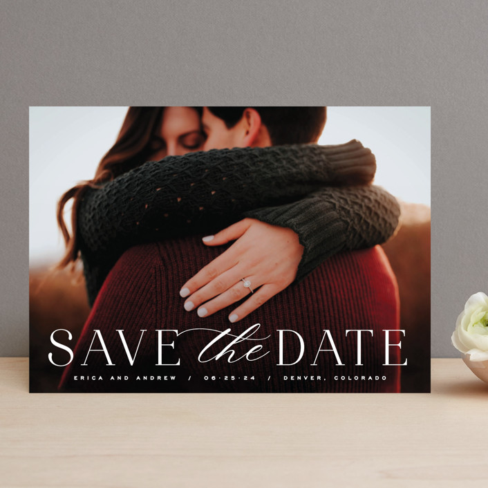 """""""Classic Serif"""" - Save The Date Cards in Dove by Hooray Creative."""