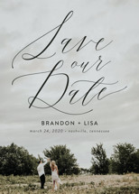 Flowing Love Save the Date Cards By Erika Firm