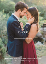 Simple Square Save the Date Cards By Amy Kross