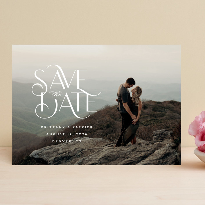 """""""Falling Slowly"""" - Save The Date Cards in Cotton by Jennifer Postorino."""