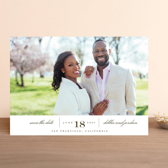 """Always"" - Save The Date Cards in Coastal Haze by Eric Clegg."
