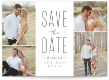 This is a grey save the date by peony papeterie called Tall Love with standard printing on smooth signature in standard.