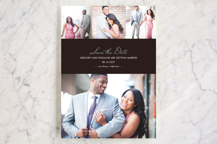 """""""Chic"""" - Modern, Simple Save The Date Cards in Bark by kelli hall."""
