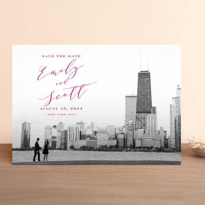 """""""Classic Save the Date"""" - Save The Date Cards in Midnight by Nicoletta Savod."""