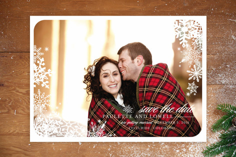 Snowflake Window Save The Date Cards