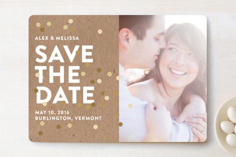 Confetti Glitz Save The Date Cards