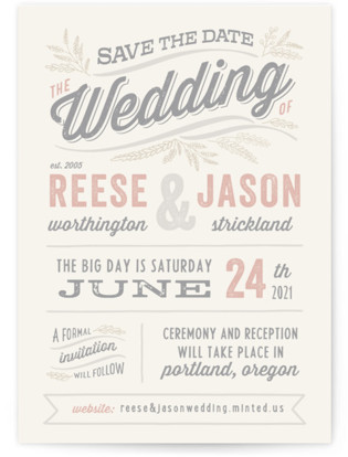 photo of Rustic Charm Save The Date Cards