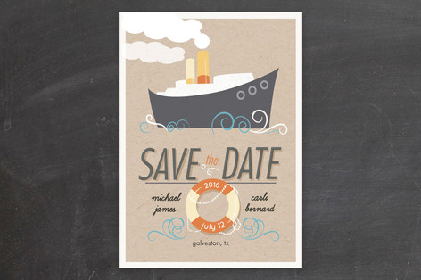 Fantastic Cruise Wedding Save The Date Cards by Ka... | Minted