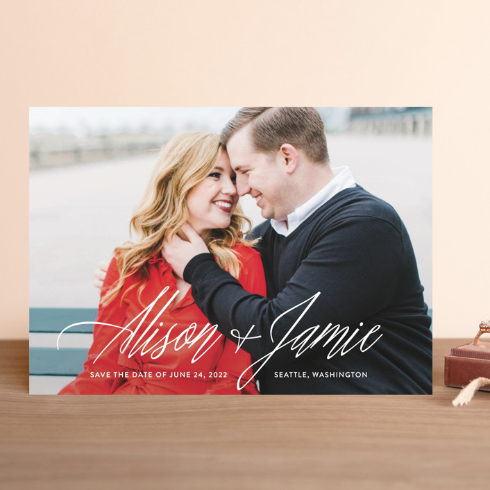 """All In The Names"" - Save The Date Cards in Cloud by Hooray Creative."