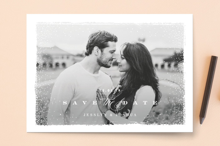 """molten"" - Save The Date Cards in White by chocomocacino."