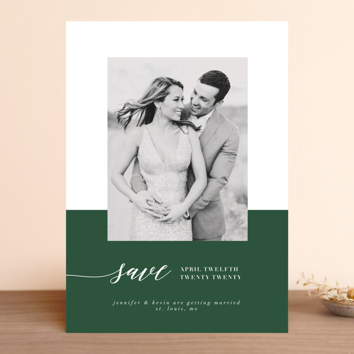 """""""Black Tie Affair"""" - Modern Save The Date Cards in Tuxedo by lena barakat."""