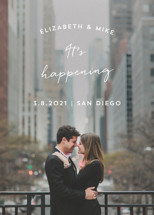 It's Happening Save the Date Cards By Anna Elder