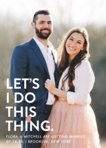 Let's I Do This Photo Save the Date Cards By Ellis