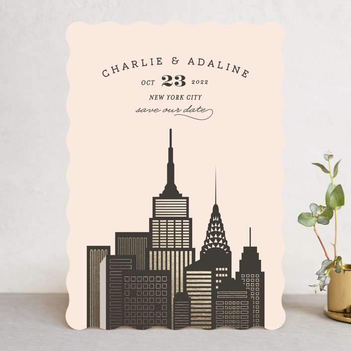"""Amalfi - New York City"" - Destination Save The Date Cards in Flamingo by chocomocacino."