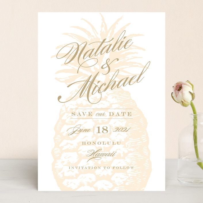 """Botanica"" - Save The Date Cards in Cognac by Sarah Curry."