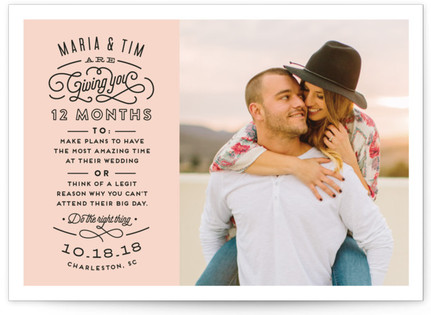 photo of Choose Wisely Save The Date Cards